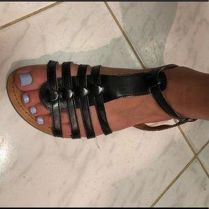 Black No Boundaries Velcro Strap Sandals